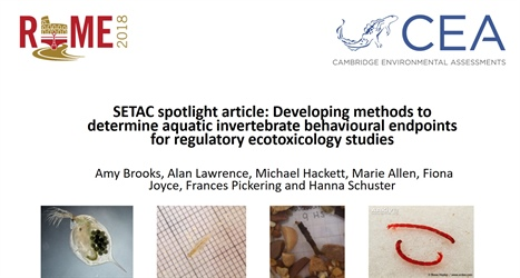 SETAC spotlight article: Developing methods to determine