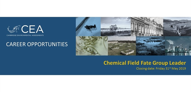 Job Vacancy for a Chemical Field Fate Group Leader