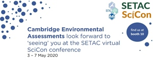 CEA activities at virtual SETAC Science Conference 3-7 May 2020
