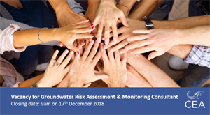Job vacancy for a Groundwater Risk Assessment and Monitoring Consultant
