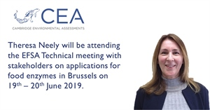 CEA attending the EFSA Technical Meeting with stakeholders on applications for food enzymes in Brussels (19th - 20th June 2019).