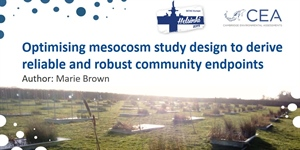 SETAC Spotlight: Optimising mesocosm study design to derive reliable and robust community endpoints