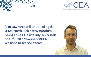 CEA to attend the SETAC special science symposium on soil biodiversity in Brussels on 19-20 November 2019