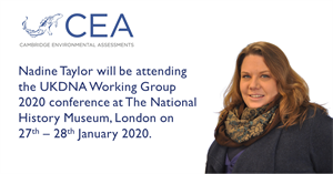 CEA to attend the UKDNA Working Group 2020 conference at The National History Museum on 27th – 28th January 2020.