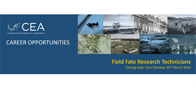 Job Vacancies for Fixed Term Field Fate Research Technicians
