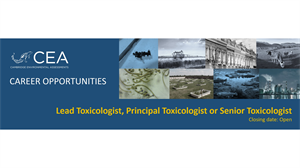 Job vacancy for Lead Toxicologist, Principal Toxicologist or Senior Toxicologist